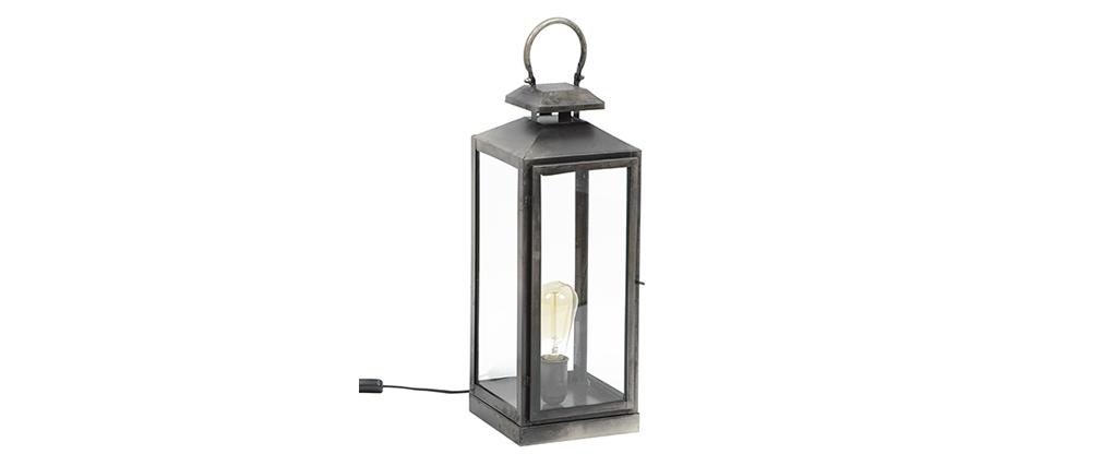 Lampada da tavolo lanterna argento antico LANTERNA