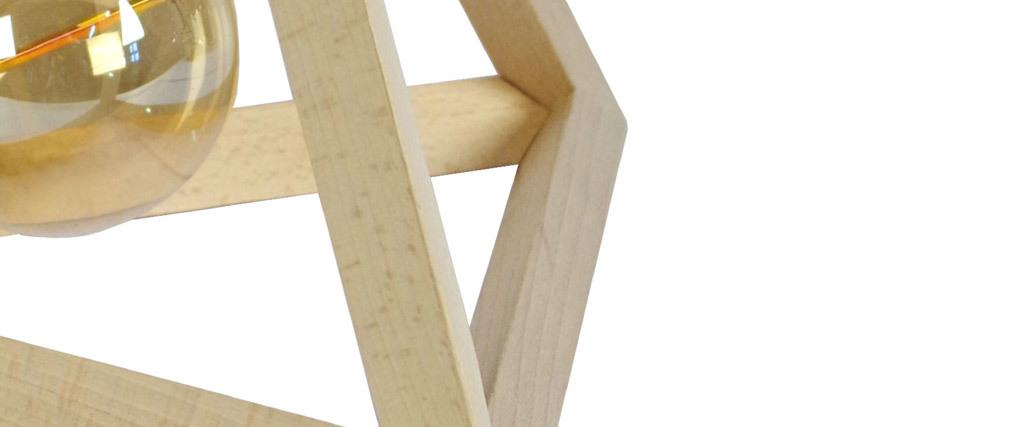 Lampada da tavolo piramidale di legno DUNE