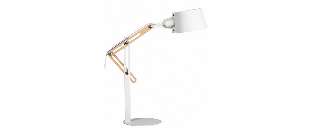 Lampada da terra design in metallo Bianco BILLY