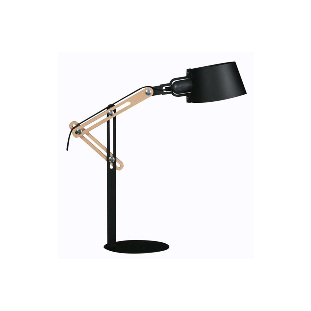 Lampada da terra design in metallo Nero BILLY