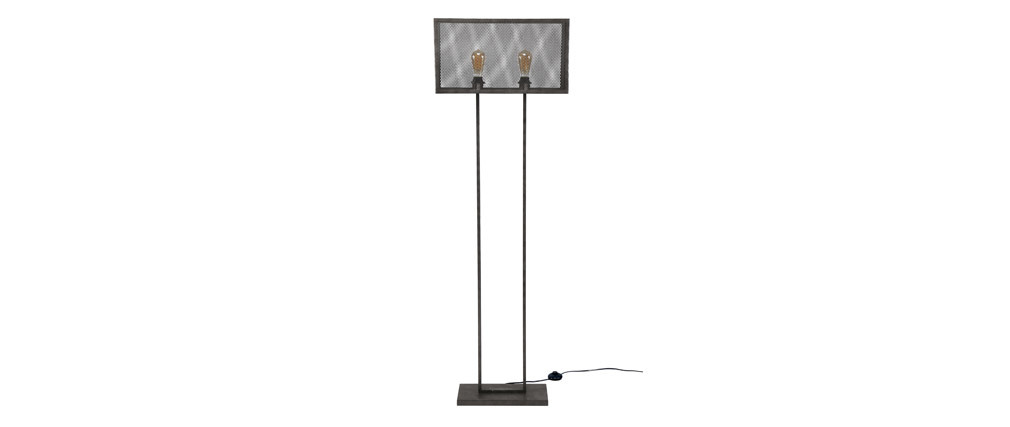 Lampada design in metallo invecchiato perforata 2 lampadine GITTER