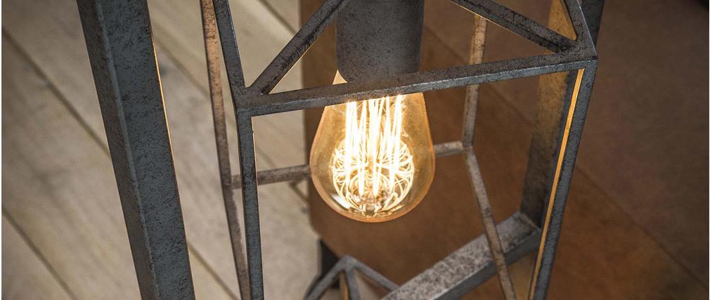 Lampada in metallo antico 4 lampadine QUATRO