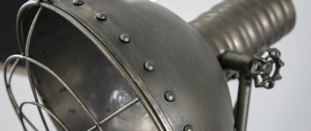Lampada metallo antracite invecchiato vintage industriale FACTORY