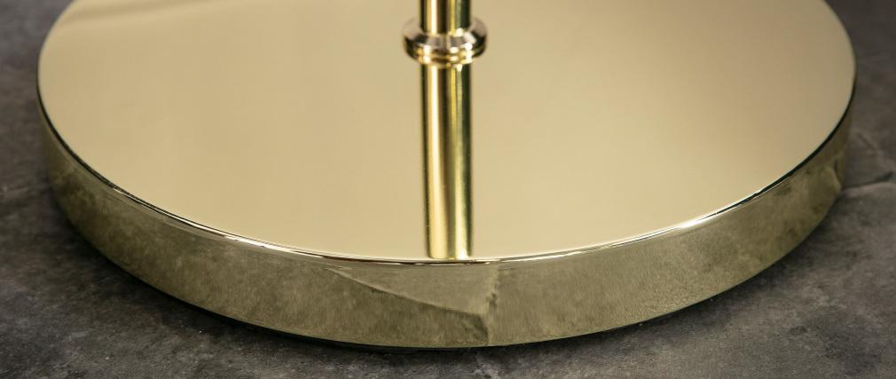 Lampada piede metallo dorato e vetro SOAP