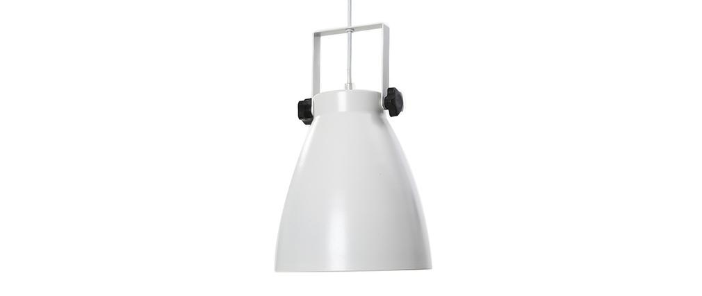 Lampada sospesa industrial bianca LOWIE