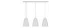 Lampadario a barra design 3 luci Bianco FRIDAY