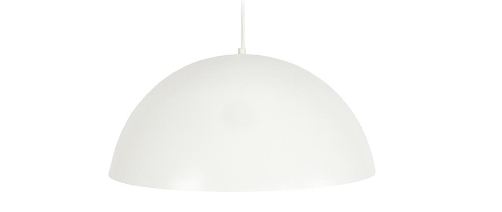 Lampadario a forma di semi-sfera design Bianco POG