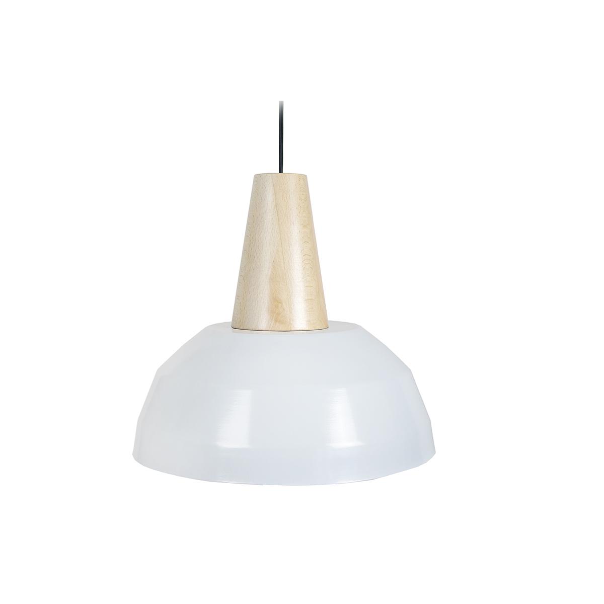 Lampadario design Bianco e legno PULSE