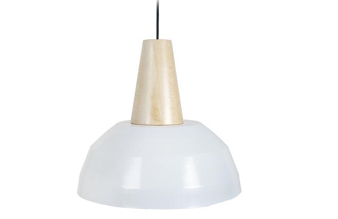 Lampadario Bianco Legno : Lampadario design bianco e legno pulse miliboo