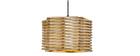 Lampadario design in legno PENTA