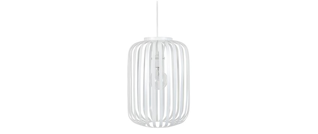 Lampadario design in metallo Bianco ALVEOL