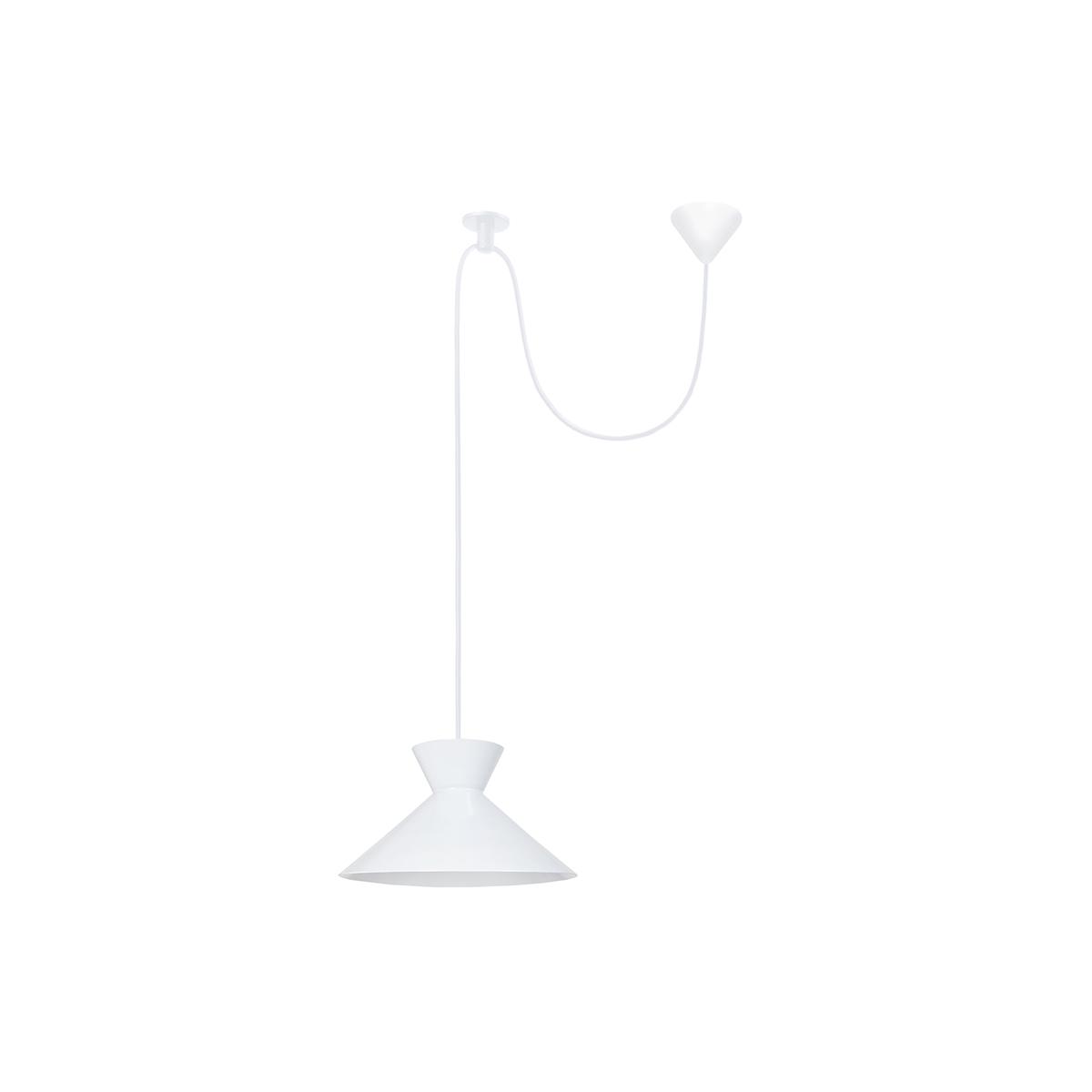 Lampadario design in metallo Bianco LEEDS