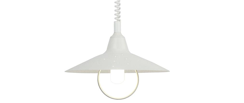 Lampadario design in metallo Bianco modello OLSON