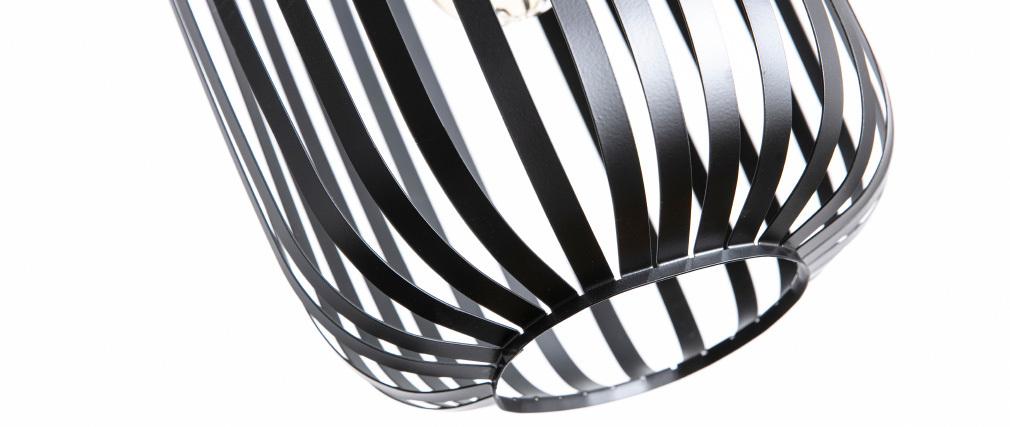Lampadario design in metallo Nero ALVEOL