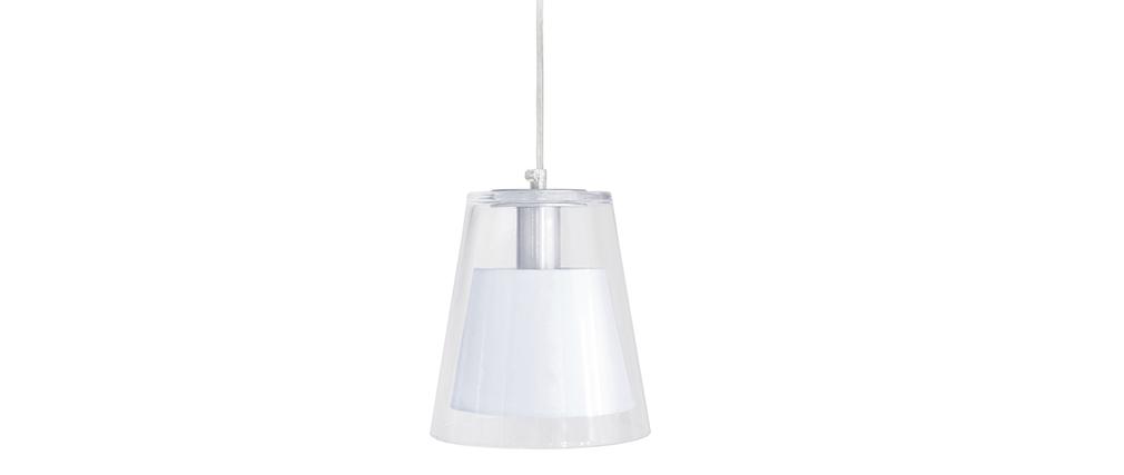Lampadario design in vetro Bianco ACROSS