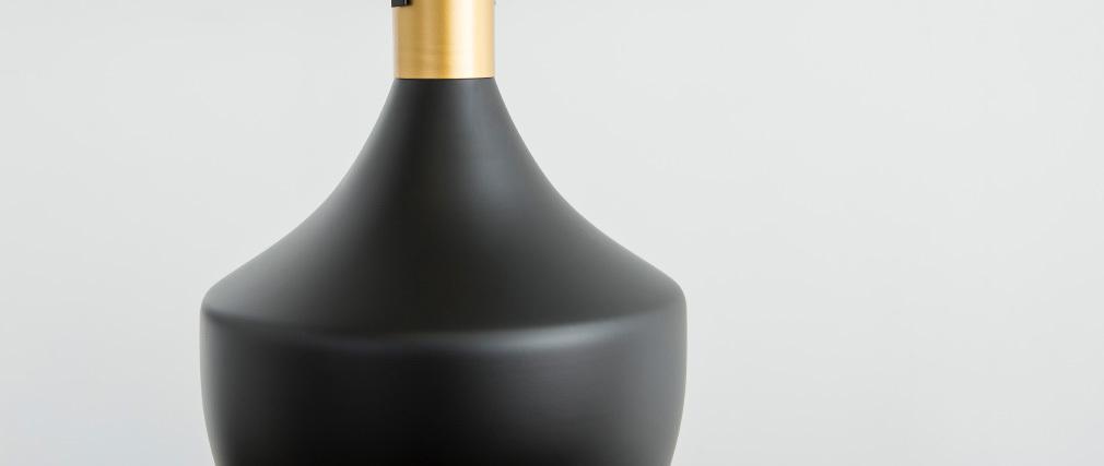 Lampadario in metallo Nero 25 cm TUBAE