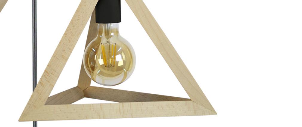 Lampadario piramidale di legno a 3 luci DUNE
