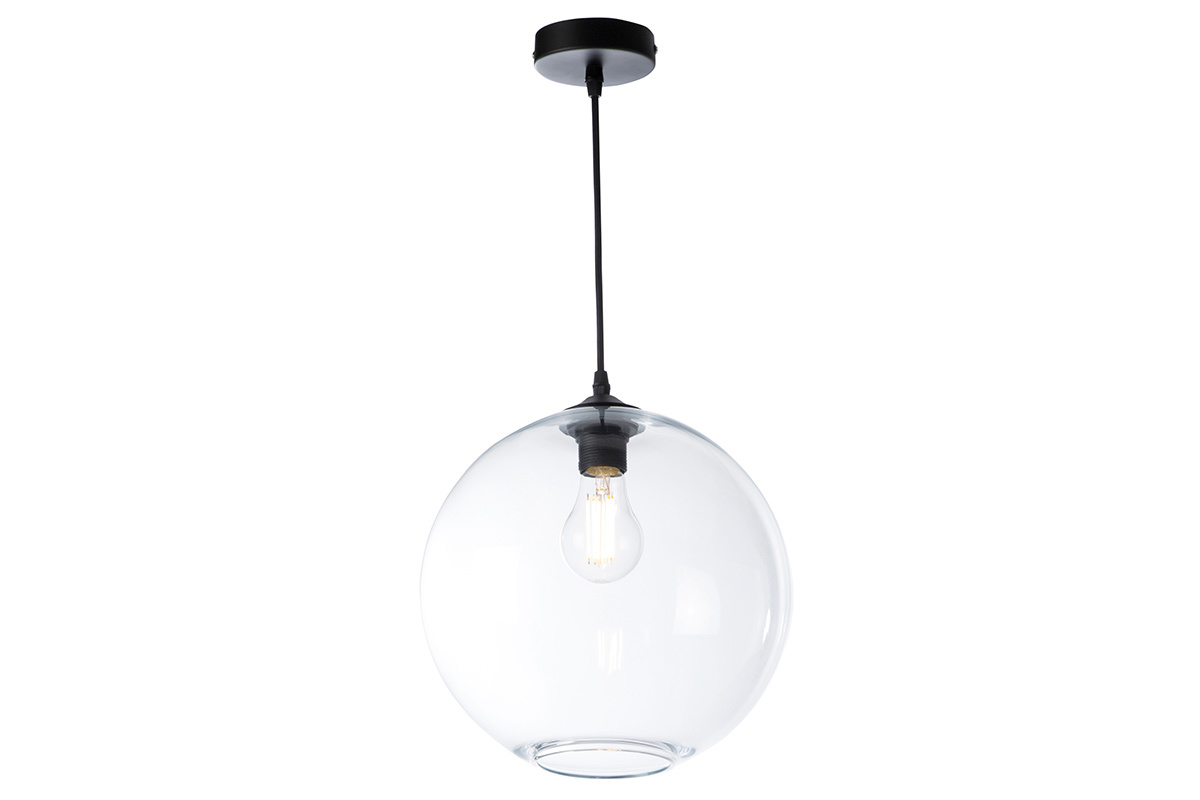 Lampadario sferico in vetro trasparente D30 cm DUNA