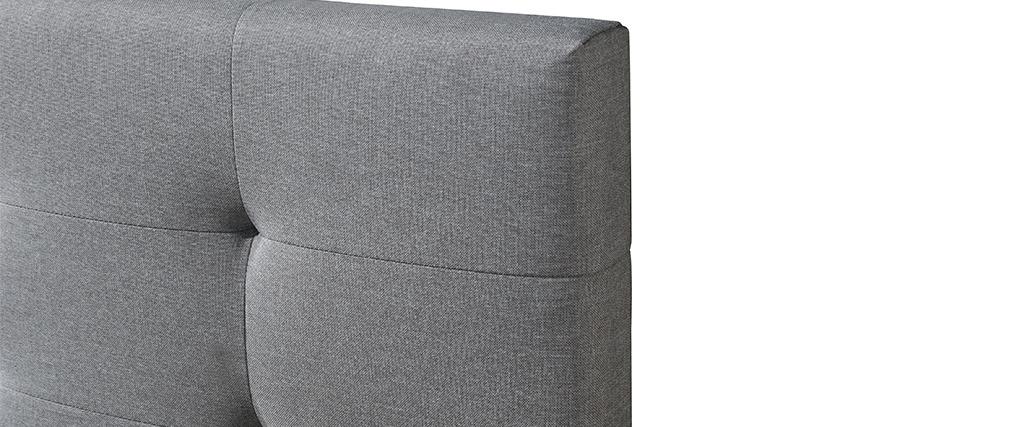 Letto 160 x 200 imbottito tessuto grigio MARQUISE