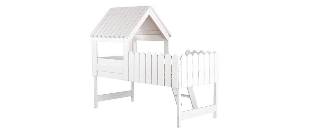 Letto a capanna bianco per bambini LITTLE HOUSE