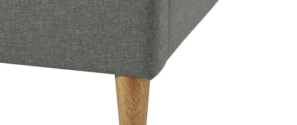 Letto adulto 160 x 200 cm con rete in tessuto grigio AYO