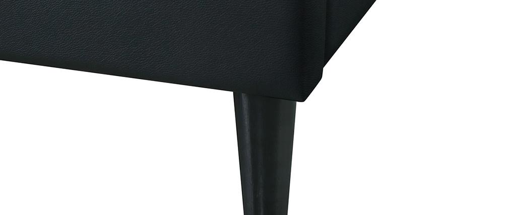 Letto adulto 160 x 200 cm con rete nero AYO