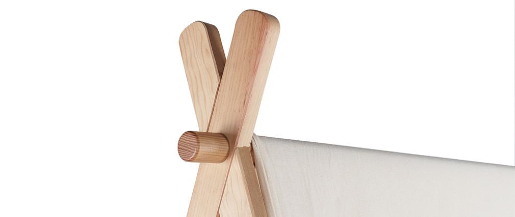 Letto bambino tenda con cassetto in legno e cotone naturale APACHE