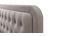 Letto capitonato tessuto beige 160 x 200cm KRISTEN