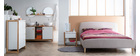 Letto design in tessuto Grigio legno 160 x 200 NIELS