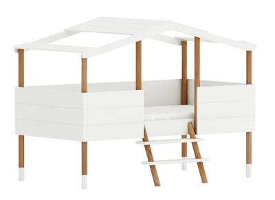 Letto e rete a capanna, da bambini, dimensioni: 90x190cm, modello: PILOTI