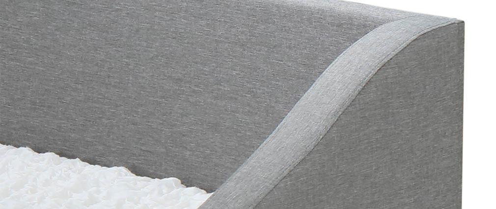 Letto estraibile 190x90cm grigio chiaro BEKKER