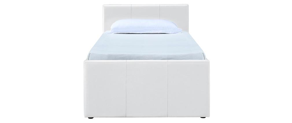 Letto estraibile 90 x 190 PU bianco MACCO