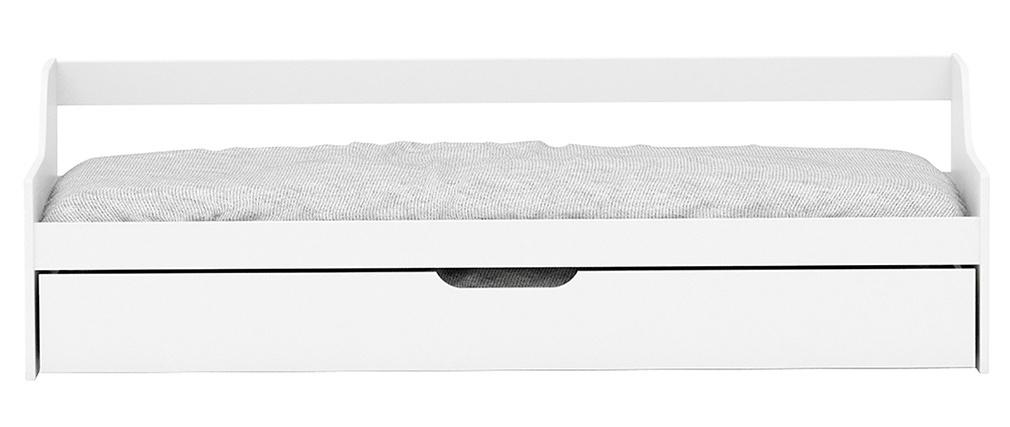 Letto per bambini con cassetto 90x200 pino bianco THEO