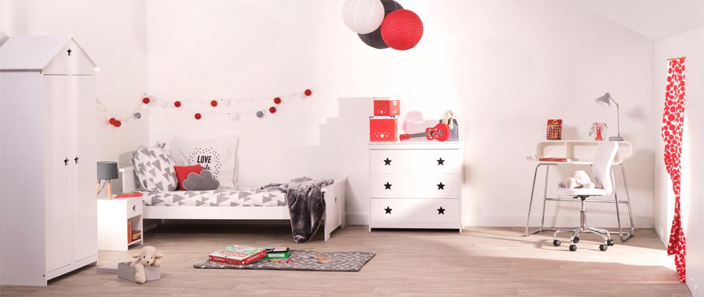 Letto per bambini design mdf bianco dream   miliboo
