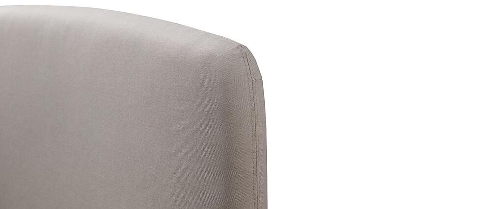 Letto scandinavo 140 x 200cm tessuto beige NIELS
