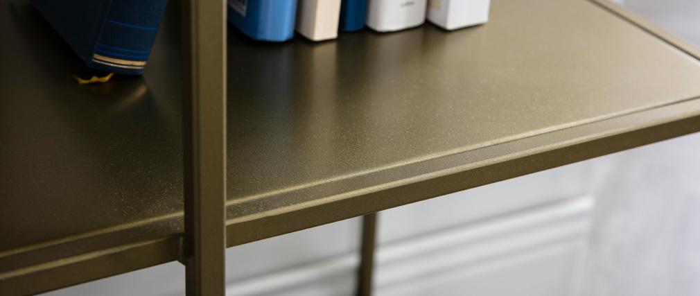 Libreria 5 mensole in metallo dorato MAGIC
