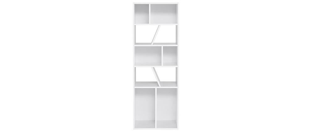 Libreria design bianca 60 cm AZTEQUE