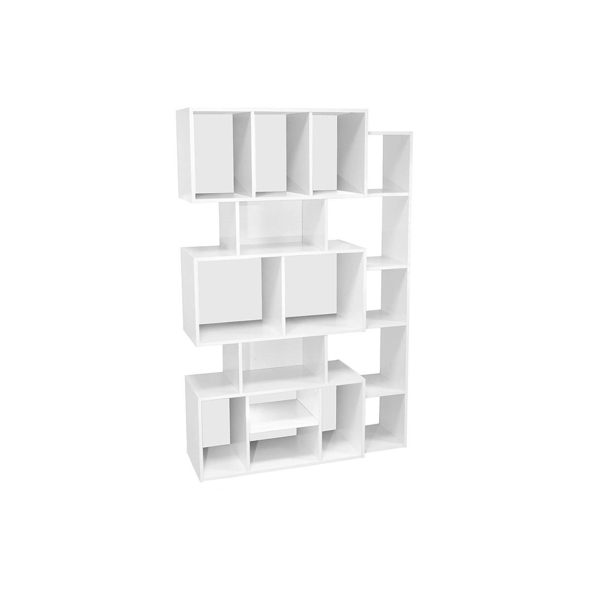 Libreria design Bianco con fondo Nero o Bianco FOLCO