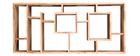 Libreria design in acacia 80 cm CHAPMAN
