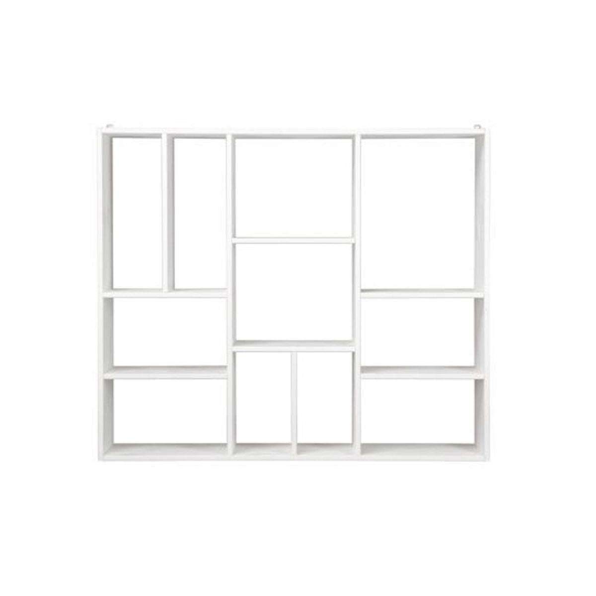 Libreria design in legno bianco CASYM