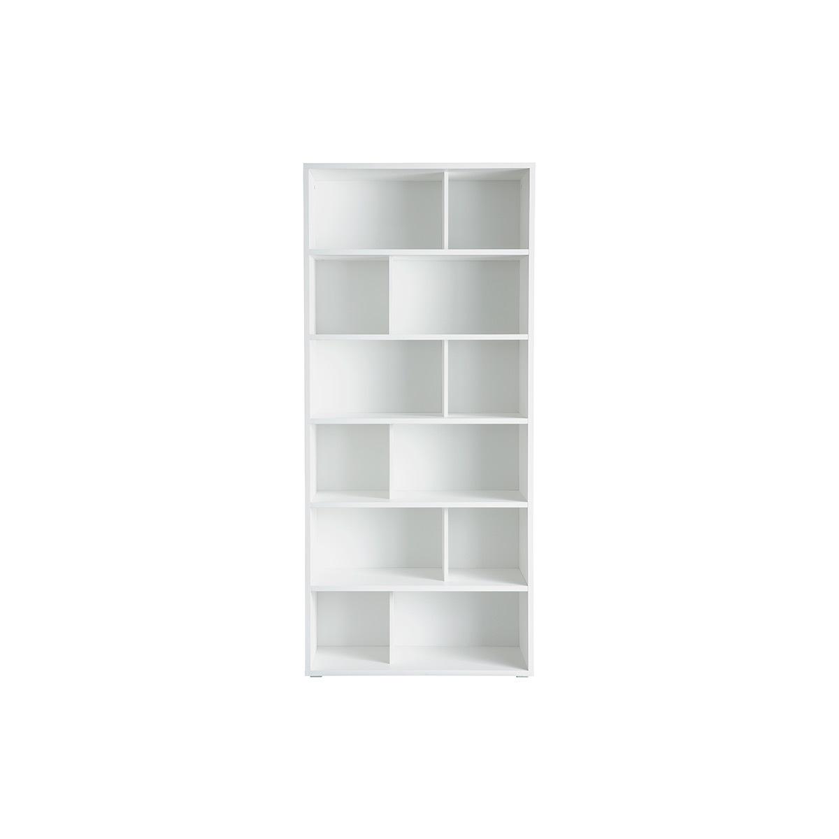 Libreria design in legno bianco EPURE