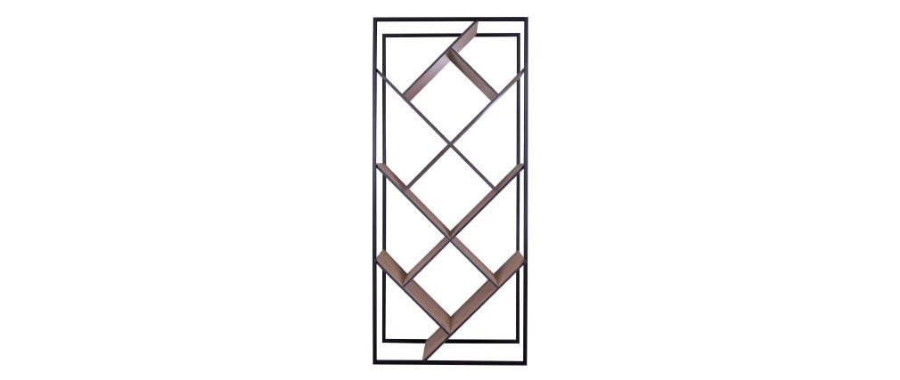 Libreria design in legno e metallo Nero TAULA