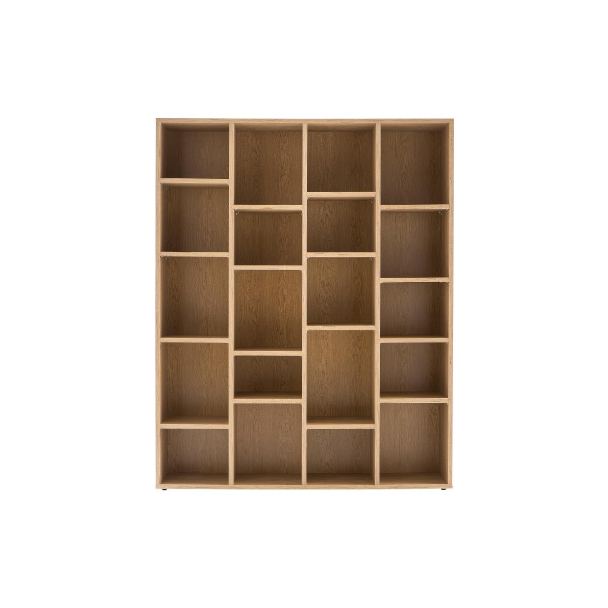 Libreria design in legno Quercia RYTHM