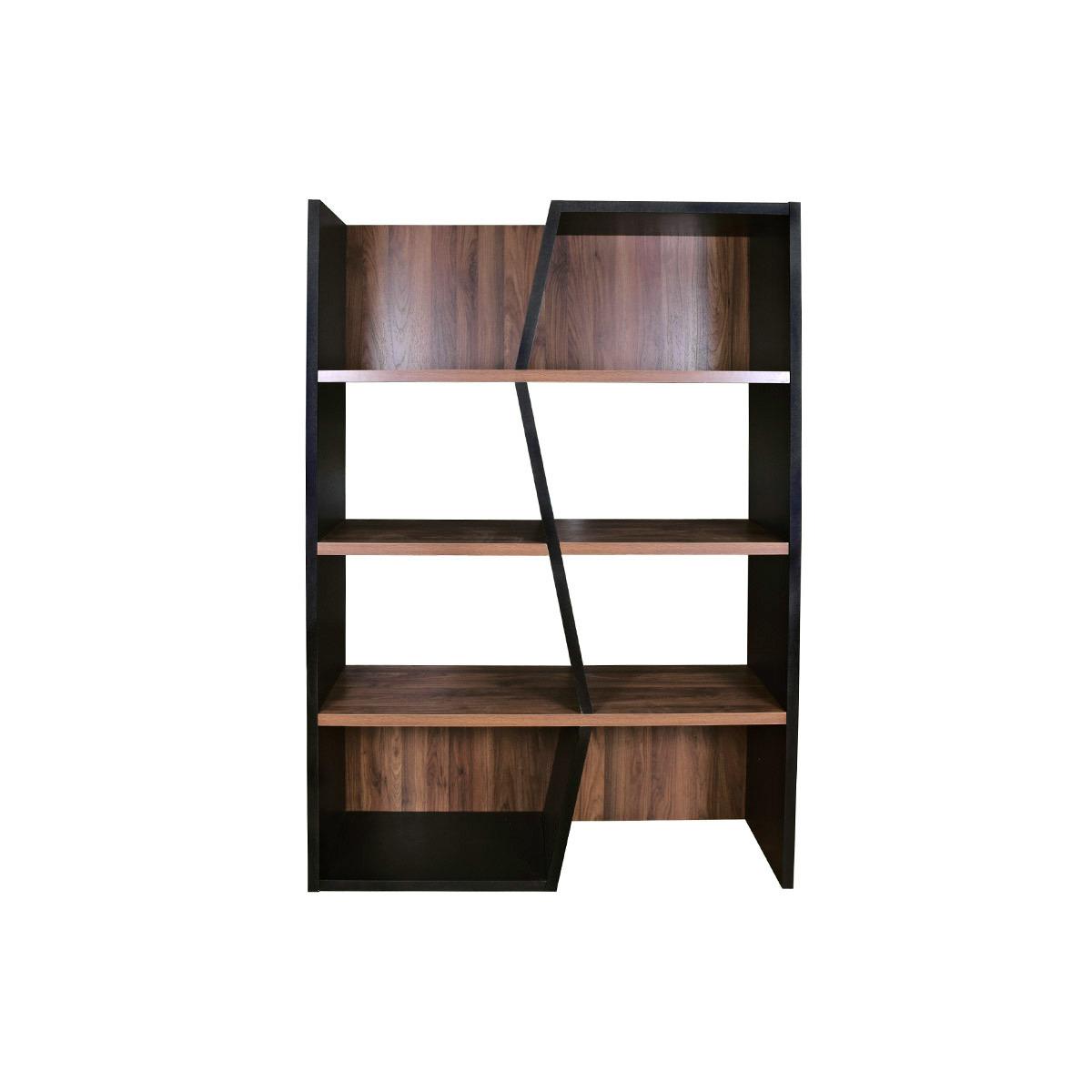 Libreria design in legno scuro Nero SAGAN