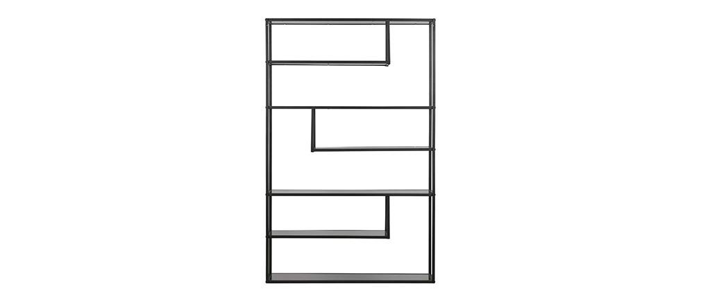 Libreria design in metallo Nero TETRIS
