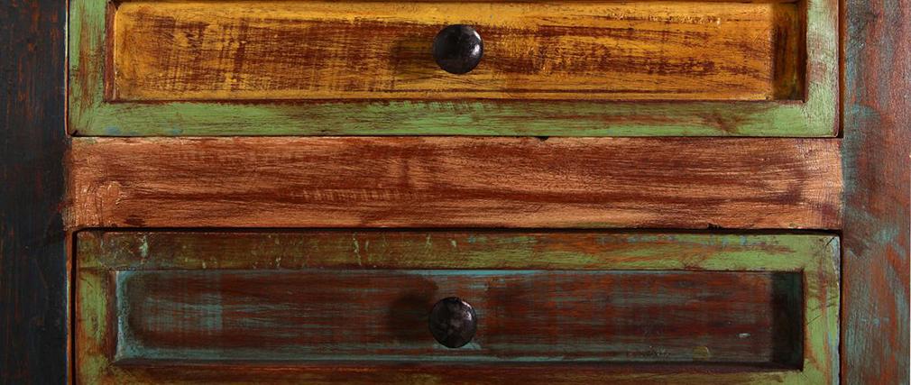 Libreria design legno riciclato mayotte   miliboo