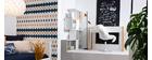 Libreria divisoria di design bianco laccato lucido H147 cm COMO