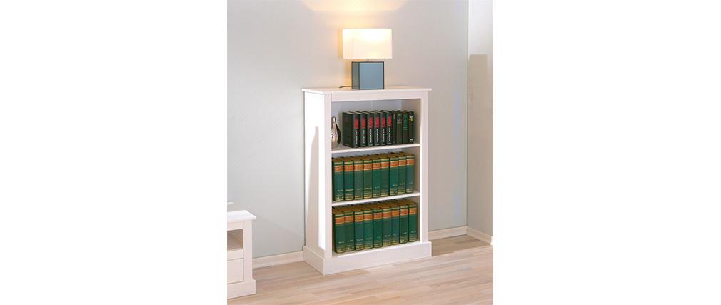 Libreria legno massiccio di pino colore bianco CAMBRIDGE