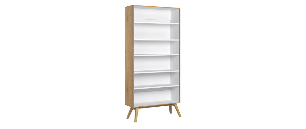 Libreria scandinava quercia e bianca POTTER