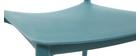 Lotto di 2 sedie design Blu anatra in polipropilene ANNA